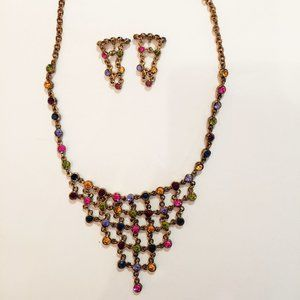 Costume Jewelry Necklace & Earrings Set